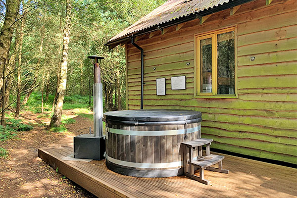 Tree lodge with hot tub in north yorkshire