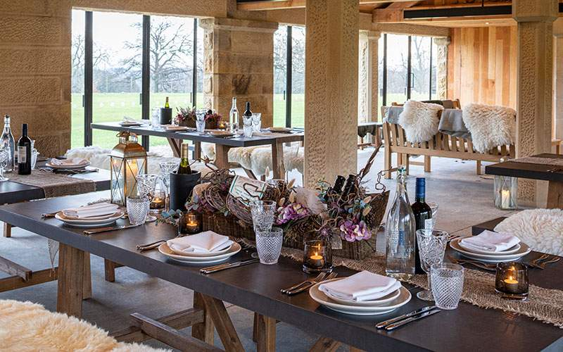 Shooting Party at Swinton Estate's Deer House